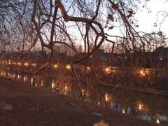 Il Lungo Tevere a Roma di sera. Photo by iPhone 3G.