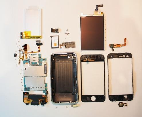 iphone 3g s fully disassembled2