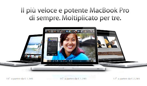 MacBookPro 13.04.10 001 Apple aggiorna i MacBookPro con i nuovi processori Intel Core i5 e i7