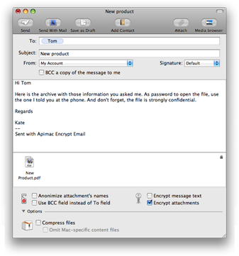 encrypt mail screen shot s Rilasciato Email Encrypt 2.0 per Mac   Software per email privacy