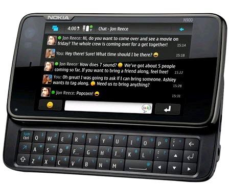 nokia n900 001 Nokia N900: potenziato con un nuovo aggiornamento software Videochiamate, grafica rinnovata, nuovi giochi e applicazioni