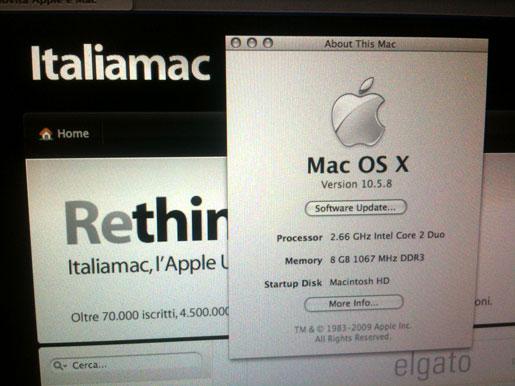 IMG 0812 Upgrade MacBook Pro 17 Unibody a 8 GB di Ram