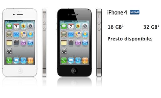 iphone4 italia iPhone 4, svelati i prezzi per lItalia