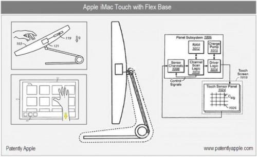 iMactouch 001 500x307 Apple deposita un nuovo brevetto, i futuri iMac e MacBook forse saranno dotati di tecnologia multi touch