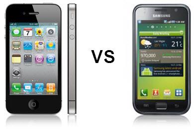 iPhone4 vs galaxyS Samsung Galaxy S si proclama il principale antagonista di iPhone 4 con 1 milioni di vendite in soli 45 giorni