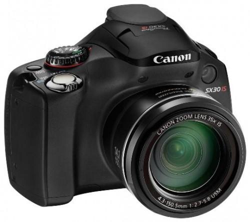 PowerShotSX30IS 001 500x444 Canon PowerShot SX30 IS: Nuova digitale compatta da 14 MegaPixel con super zoom da 35x, video HD 720p e HDMI