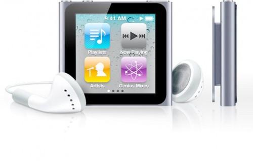 iPodNanotouch 002 500x319 Ecco il nuovo iPod Nano con tecnologia multi touch a partire da 169 Euro (8 GB)