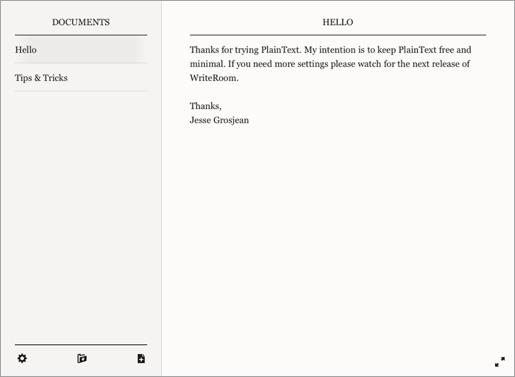 plaintext1 PlainText, un editor di note minimalista per iPad e iPhone con supporto a Dropbox