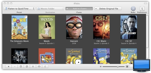 iflicks1 iFlicks, converti i tuoi video per iPad, iPhone ed Apple TV