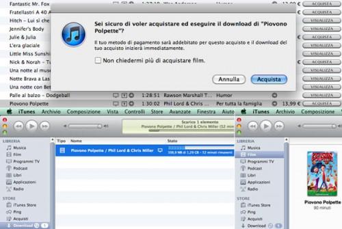 itunes store film 001 500x335 setteB.IT: Comprato il primo film su iTunes Store Italia
