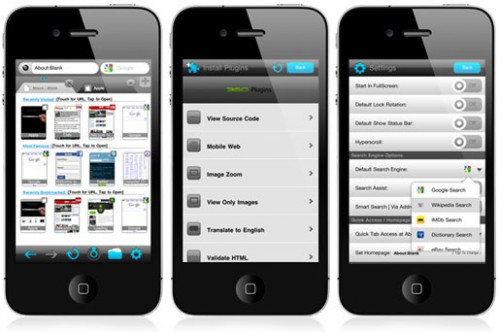 360 3 500x332 360 Web Browser: unalternativa originale e completa a Safari su iPhone