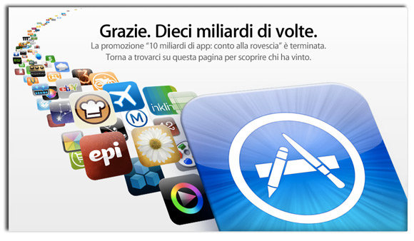 Untitled 1 App Store ha raggiunto 10 miliardi di download