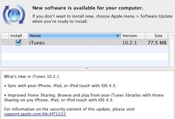 181030 itunes 10 2 1 iTunes 10.2.1. disponibile in Aggiornamento Software