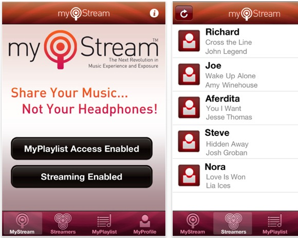 screen capture 2 Condividi la tua libreria musicale con MyStream, in wireless