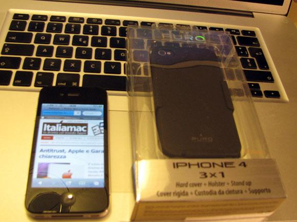 001 Puro, custodia multiuso 3 in 1 per iPhone 4
