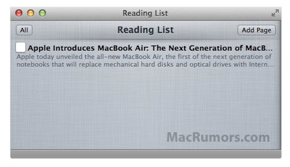 212649 reading4 In arrivo Reading List per Safari