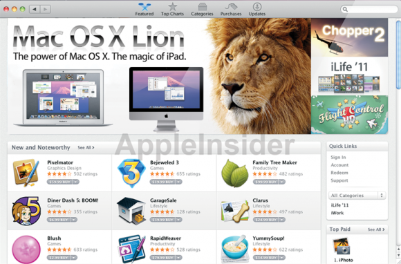 lion 110504 580x382 Mac OS X Lion sarà acquistabile sul Mac App Store?