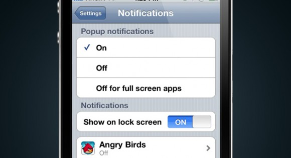 notifications settings 580x316 Un concept mostra come potrebbero essere le notifiche push in iOS 5