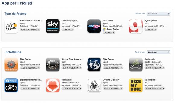 Schermata 2011 06 27 a 16.13.36 580x341 App per i ciclisti: una nuova sezione in App Store