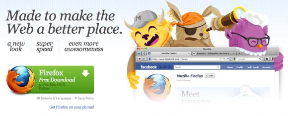 Schermata 2011 06 28 a 20.06.57 580x234 Mozilla rilascia Firefox 5 per Mac OS X