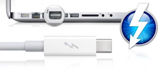 Thunderbolt Apple Macbook 580x269 Apple rilascia il cavo Thunderbolt