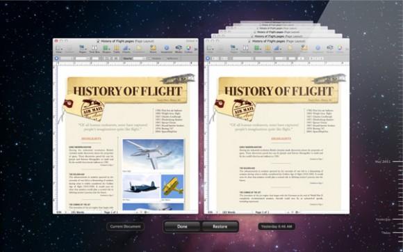 autosave versions screen 580x362 WWDC: su il sipario per il nuovo Mac OS X Lion