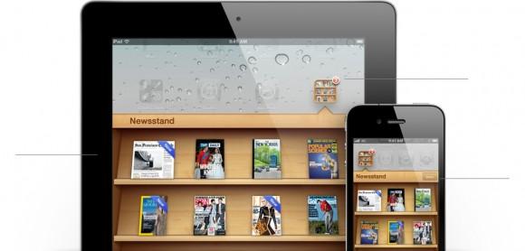 features newsstand folder 580x278 WWDC: scopriamo la nuova applicazione Newsstand introdotta con iOS 5