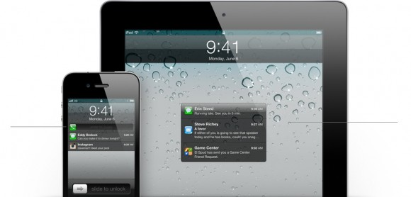 features notification lockscreen 580x278 WWDC: scopriamo le Notifiche Push di iOS 5 per nostri futuri iPhone