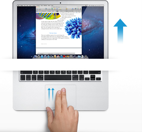 gestures hands on WWDC: su il sipario per il nuovo Mac OS X Lion