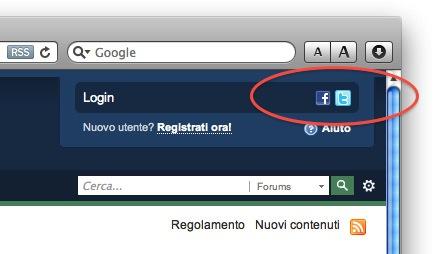 italiamactwfb Da oggi puoi fare il login al forum di Italiamac anche con Facebook o Twitter