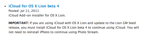 32 Apple rilascia iOS 5 Beta 3, iTunes 10.5 beta 3 e iCloud beta 4