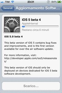 IMG 02061 L'iOS 5 beta 4 rende possibile per la prima volta l'aggiornamento del firmware attraverso OTA