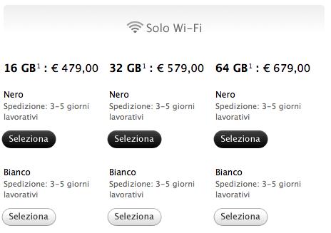 Schermata 07 2455759 alle 21.34.55 I tempi di attesa per iPad 2 scendono a 1 3 giorni lavorativi