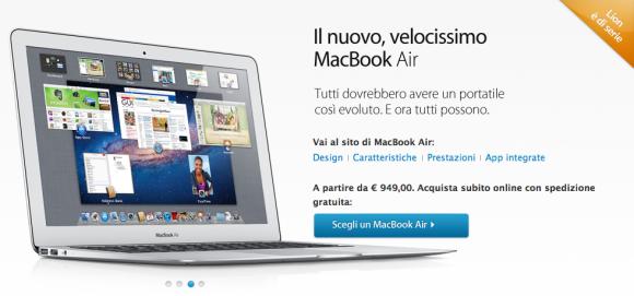 Schermata 07 2455763 alle 16.58.15 580x271 Presentati i nuovi MacBook Air