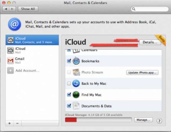 iCloud beta OS X Lion 580x447 Gli sviluppatori con OS X Lion 10.7.2 possono iniziare la sincronizzazione dei dati iCloud