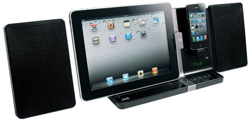 jvcux JVC UX VJ3: La Dock Station simultanea per iPad ed iPhone!
