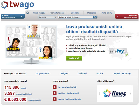 twago Il Web ha reso freelance l'outsourcing
