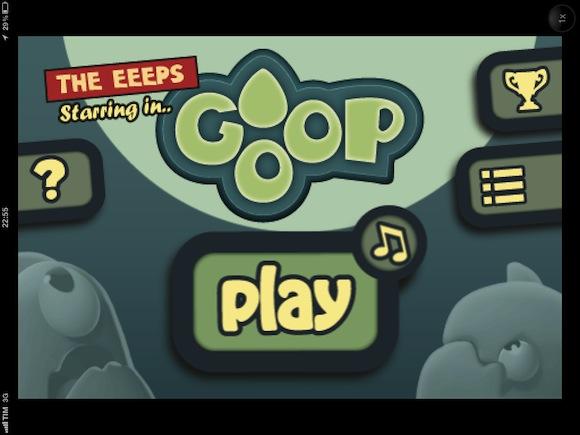 Goop - schermata principale
