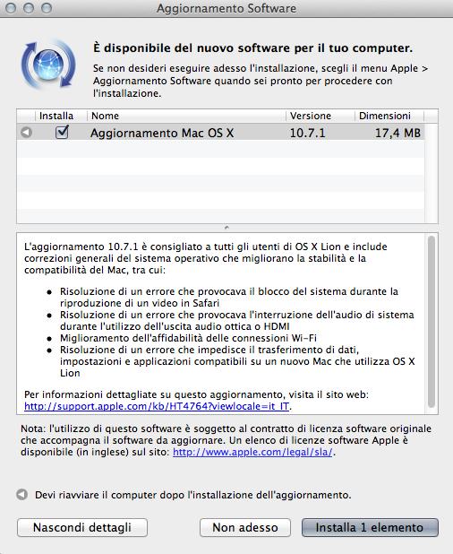 Schermata 08 2455790 alle 22.33.16 Disponibile per il download Mac OS X Lion 10.7.1