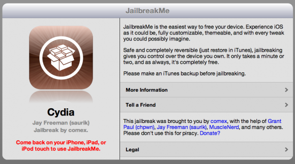 jailbreakme home 580x324 Apple assume il creatore di JailbreakMe.
