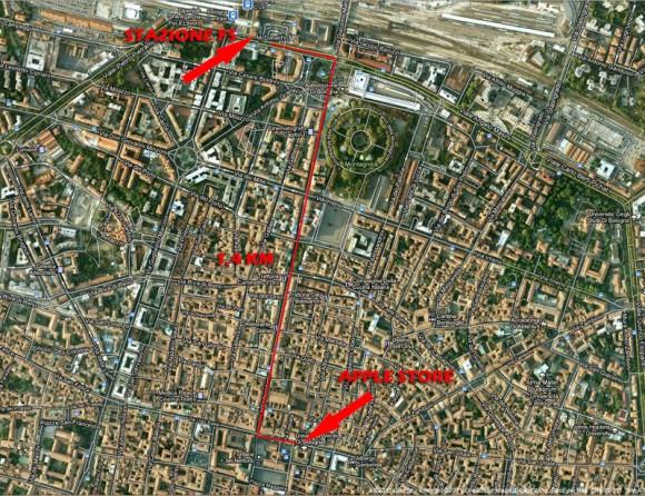 Mappa11 580x446 17 Settembre ore 9: Apre Apple Store Bologna