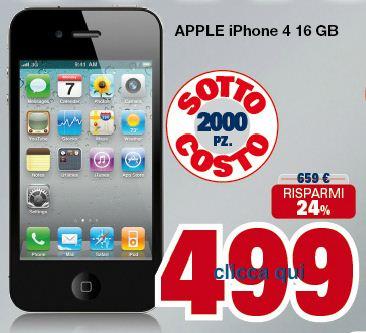 uniEuro Interessante promozione di UniEuro per acquistare un iPhone 4 da 16 GB