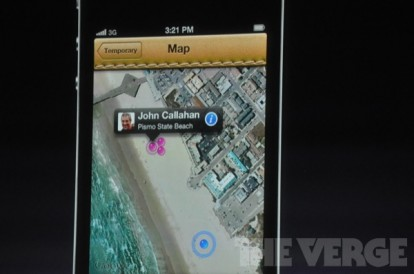 Evento Find My Friends 2 414x274 Apple presenta due nuove applicazioni: Cards e Find My Friends