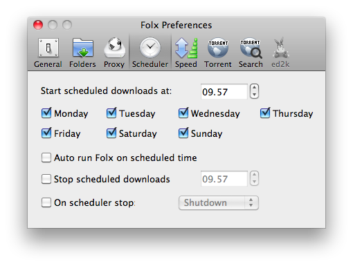 folx scheduled slidetomac Con Folx gestiamo i nostri download