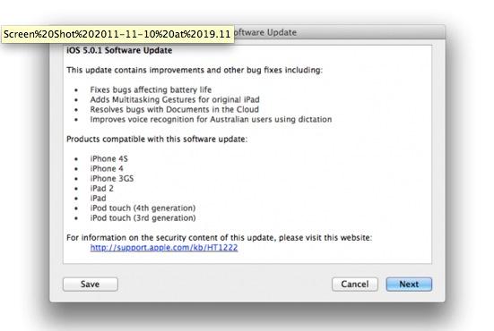 Schermata 11 2455876 alle 21.48.22 Apple rilascia iOS 5.0.1