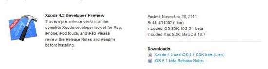 Schermata 11 2455895 alle 10.21.46 Apple ha rilasciato agli sviluppatori iOS 5.1 beta e Xcode 4.3 beta