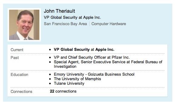 Screen Shot Presidente sicurezza Il capo della sicurezza di Apple si dimette