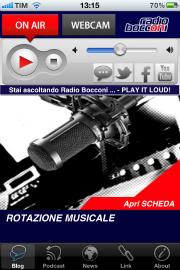 02 low Una App anche per Radio Bocconi