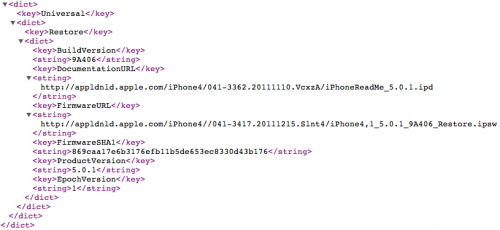 65930 500 Apple rilascia una nuova build di iOS 5.0.1 per iPhone 4S