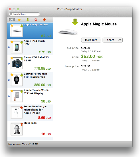 ita 01 Utile  applicazione per Mac: Prices Drop Monitor for Amazon